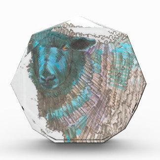black sheep drawing acrylic award