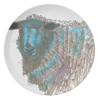 black sheep drawing dinner plate