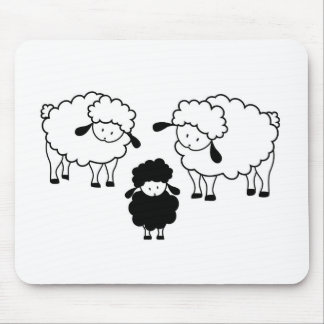 Black sheep family mouse pad