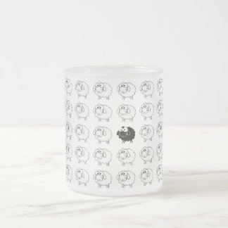 Black Sheep Frosted Glass Coffee Mug