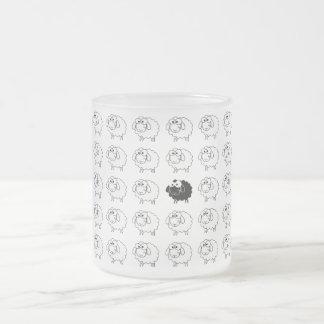 Black Sheep Frosted Glass Coffee Mug