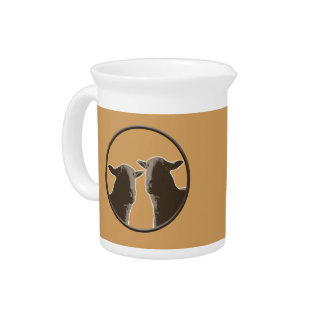 Black Sheep gear in sepia Beverage Pitcher