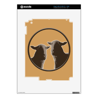 Black Sheep gear in sepia Decal For iPad 2