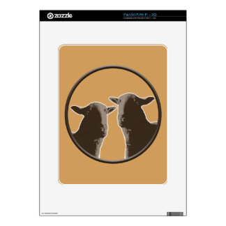 Black Sheep gear in sepia Decal For The iPad