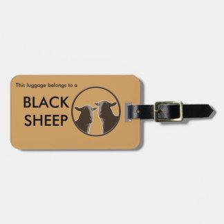 Black Sheep gear in sepia Luggage Tag