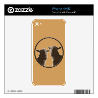 Black Sheep gear in sepia Skin For iPhone 4S
