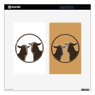 Black Sheep gear in sepia Skin For Kindle Fire