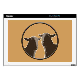Black Sheep gear in sepia Skins For Laptops