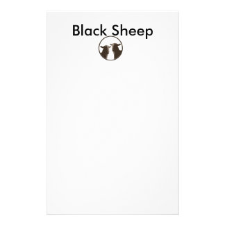 Black Sheep gear in sepia Stationery