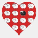 Black Sheep Heart Sticker