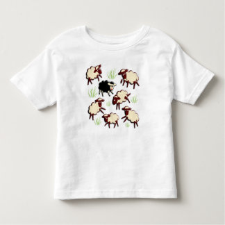 Black sheep in the herd + your backgr. toddler t-shirt
