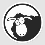 Black Sheep Inside Classic Round Sticker