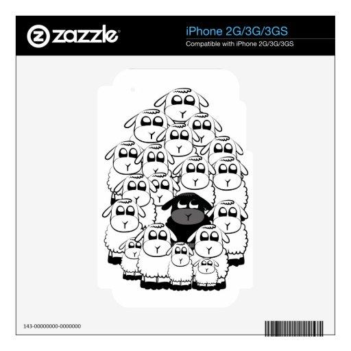 Black sheep iPhone 3 decals