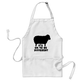 Black Sheep - It's Ok To Be Different Aprons