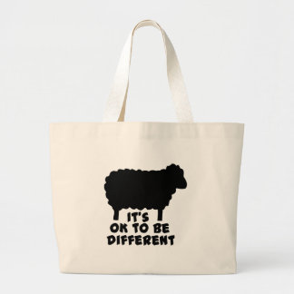 Black Sheep - It's Ok To Be Different Canvas Bags