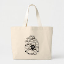 Black sheep large tote bag