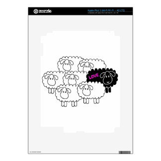 Black Sheep (Love) Decals For iPad 3
