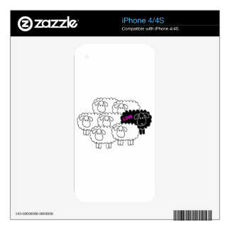 Black Sheep (Love) Skins For iPhone 4