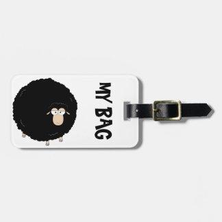 Black sheep luggage tag