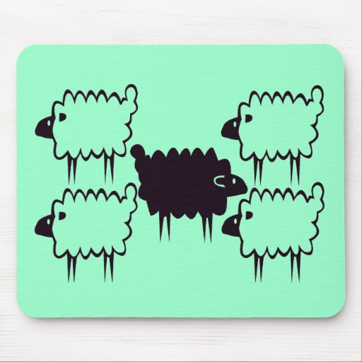 black sheep mouse pads