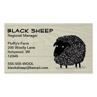 Black Sheep on Wood Pattern Background Business Cards