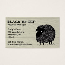 Black Sheep on Wood Pattern Background Business Card