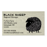 Black Sheep on Wood Pattern Background Double-Sided Standard Business Cards (Pack Of 100)