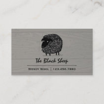 Black Sheep on Wood Style Background Business Card