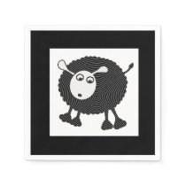 Black Sheep Paper Napkins-Set of 50 Paper Napkin