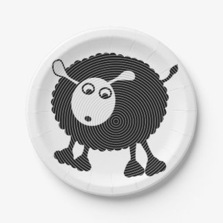Black Sheep Paper Plate-$1.50/plate Paper Plate