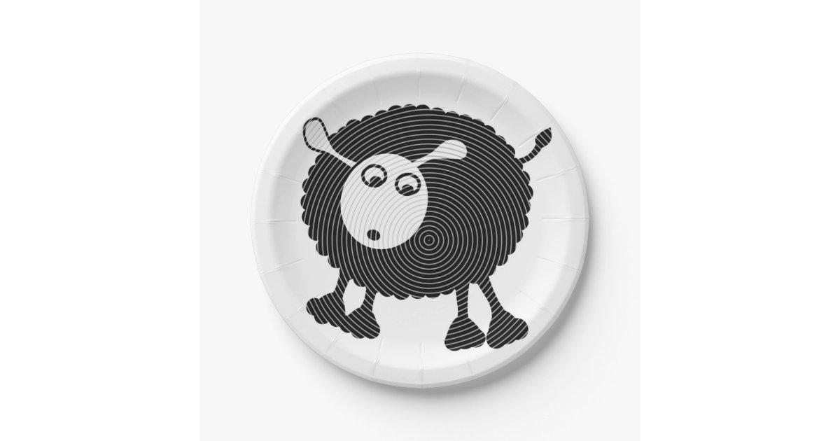 Black Sheep Paper Plate-$1 50/plate Paper Plate | Zazzle com