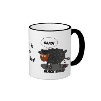 Black sheep ringer mug