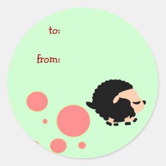 black sheep round stickers