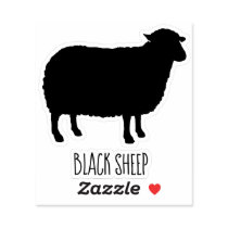 Black Sheep Silhouette Sticker