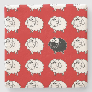 Black Sheep Stone Coaster