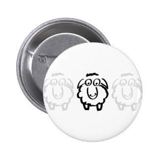 black sheep white sheeps 2 inch round button