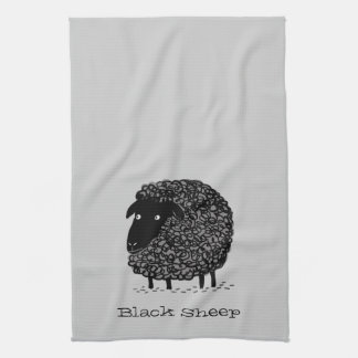 Black Sheep with Custom Text Towels