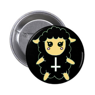 Black Sheep with St. Peter's Cross 2 Inch Round Button