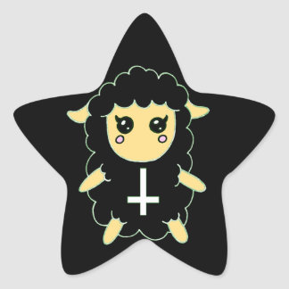 Black Sheep with St. Peter's Cross Star Sticker
