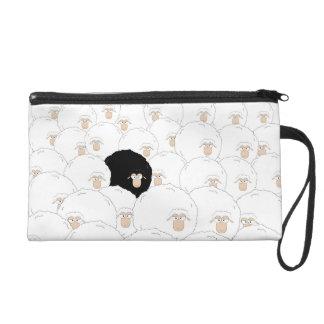 Black sheep wristlet purse