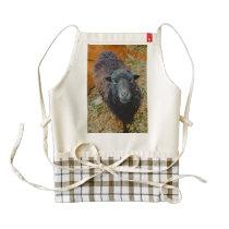 Black sheep zazzle HEART apron