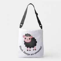 Black sheeps are awesome crossbody bag