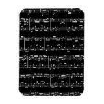 Black Sheet Music Flexible Magnet