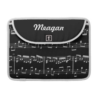 Black Sheet Music MacBook Sleeve