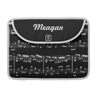 Black Sheet Music MacBook Sleeve Sleeves For MacBooks