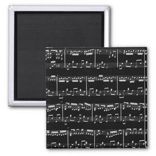 Black Sheet Music Magnet