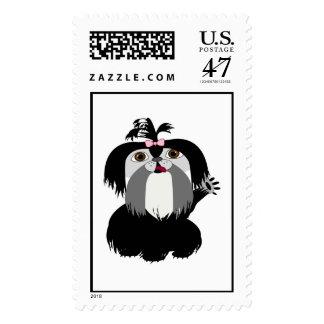 Black Shih Tzu Dog Postage