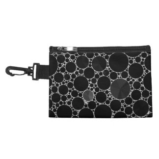Black Shiny Bling Pattern Accessory Bag