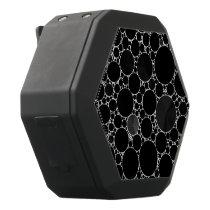 Black Shiny Bling Pattern Black Bluetooth Speaker