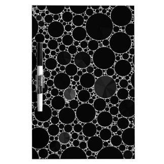 Black Shiny Bling Pattern Dry-Erase Board
